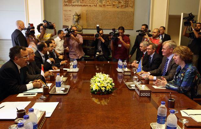 مصر، سوریه و فلسطین محور مذاکرات اشتون و فهمی