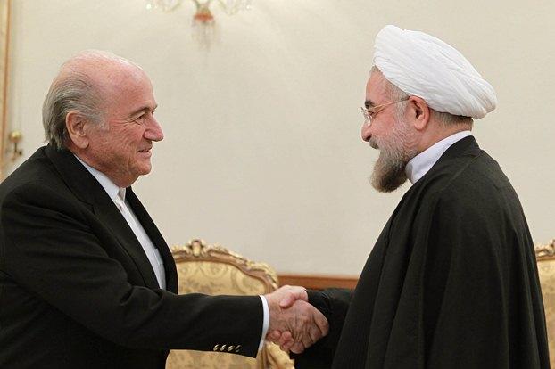 تصاویر دیدار روحانی با بلاتر رییس فیفا