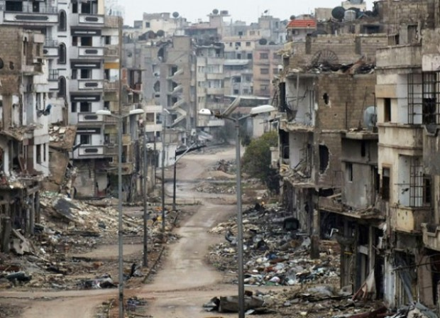 ویرانی های ناشی از جنگ در سوریه