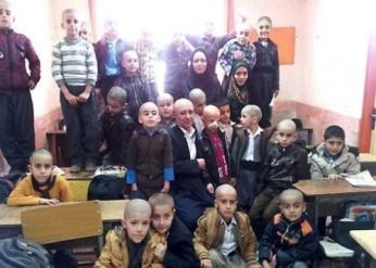 دانش آموزان کلاس دوم دبستان شیخ شلتوت مریوان همه به یک شکل درآمدند!