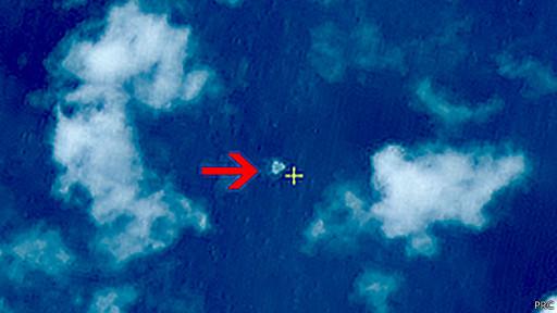 'سرنخی' احتمالی از هواپیمای مالزیایی در تصاویر ماهوارهای