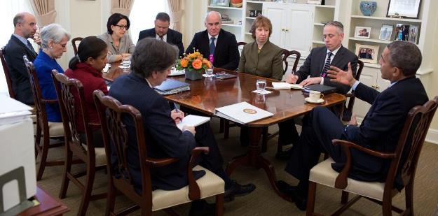 تاکید اوباما بر تعهد به گفتگوها با ایران در دیدار اشتون از کاخ سفید