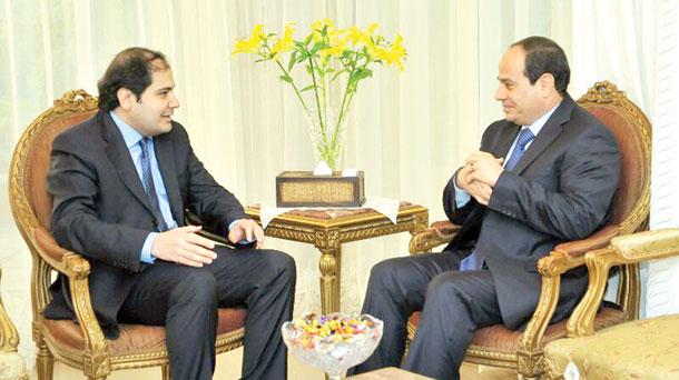 السیسی در گفتگو با الشرق الاوسط: امنیت خلیج همان امنیت مصر است
