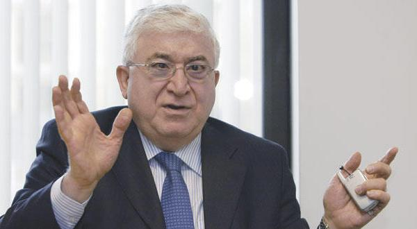 سوگند فواد معصوم به عنوان رییس جمهور عراق پس از کناره گیری برهم صالح