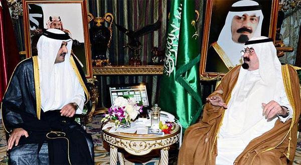 اوضاع سرزمین های فلسطینی محور گفتگوهای پادشاه سعودی و امیر قطر