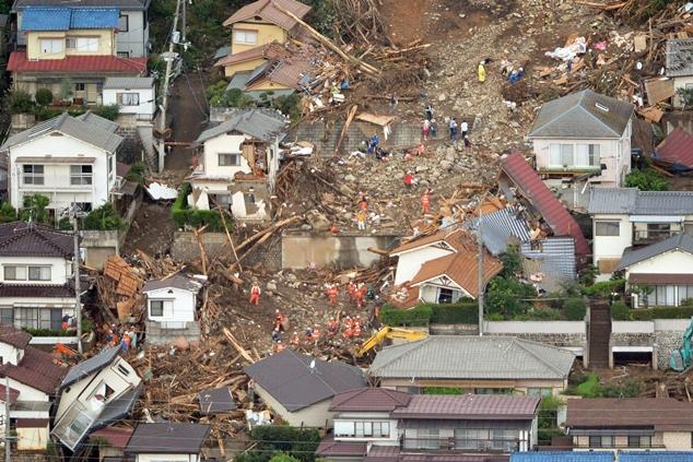 رانش زمین در هیروشیما ۴۰ کشته به جا گذاشت
