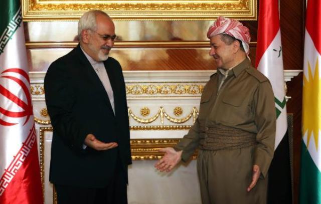 بارزانی در دیدار با ظریف: ایران به کردها سلاح داد