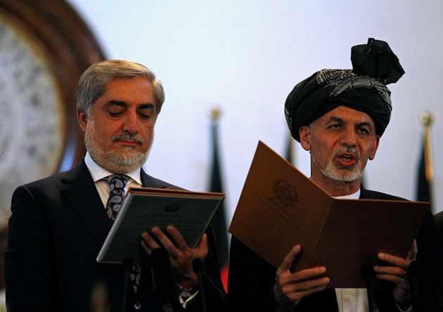 غنی احمدزی به عنوان رییس جمهور افغانستان سوگند خورد