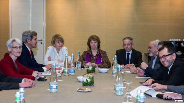 دیدار ظریف با نمایندگان آمریکا و اروپا