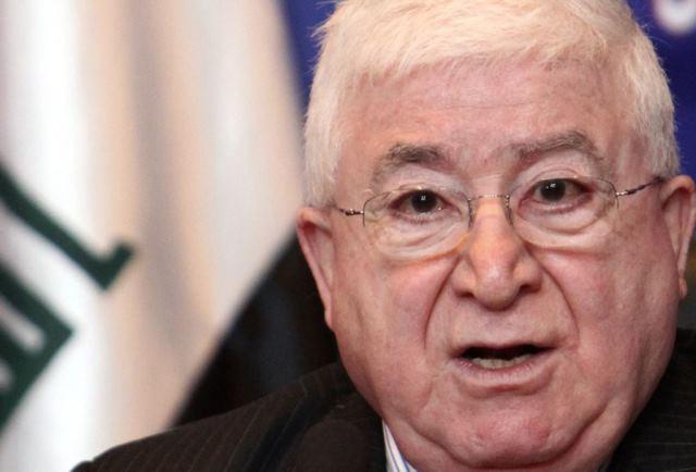 فواد معصوم: لازم نیست کشورهای عربی به داعش در عراق حمله کنند