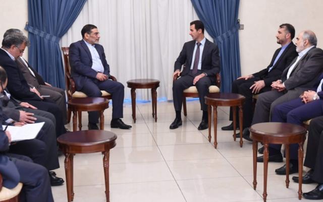 دیدار دبیر شورای عالی امنیت ملی ایران با بشار اسد