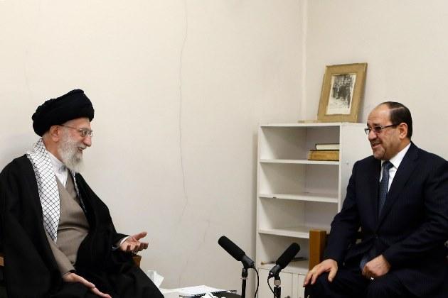 دیدار مالکی با آیت الله خامنه ای در تهران