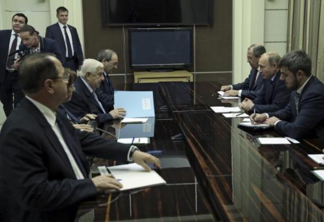 دیدار رییس جمهور روسیه با وزیر خارجه سوریه