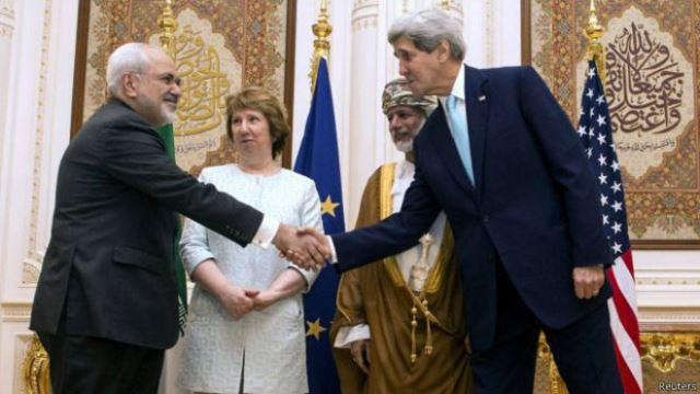 مذاکرات هسته ای ظریف، کری و اشتون در مسقط