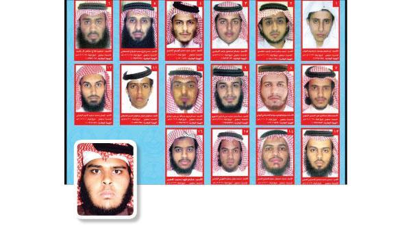 لیستی متشکل از ۱۶ نفر تروریست تحت تعقیب در عربستان سعودی همزمان با تشییع قربانیان {العنود}