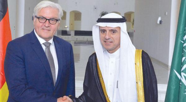 وزیر خارجه عربستان سعودی و همتای آلمانی او در کنفرانس مطبوعاتی در ریاض – عکس از خبرگزاری عربستان سعودی