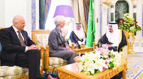 پادشاه عربستان سعودی با لاگارد تحولات اقتصادی بین المللی را مورد بحث قرار می دهد
