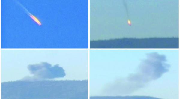 عکس های گرفته شده از تصاویر ویدیوی که هواپیمای سوخوی روسیه را از زمان اصابت تا لحظه سقوط در منطقه هاتای در جنوب غربی ترکیه نشان می دهد – عکس از رویترز