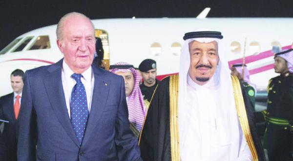 ملک سلمان با پادشاه قبلی اسپانیا در ریاض دیدار کرد