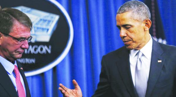 اوباما برای سرعت بخشیدن به جنگ علیه «داعش» وزیر دفاع خود را به منطقه اعزام می کند