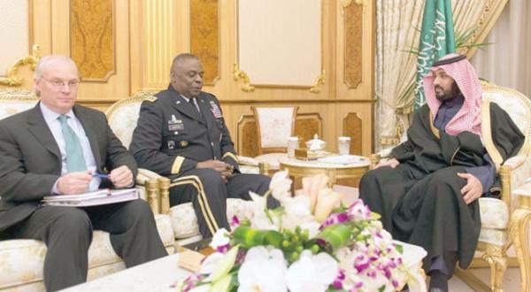 رایزنی ولیعهد و جانشین ولیعهد عربستان سعودی با رئیس فرماندهی مرکزی آمریکا