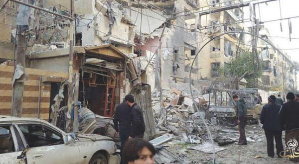 شهادت 3 کودک و اصابت 20 تن دیگر طی بمباران یک مهدکودک در محله الزبدیه در حلب توسط جنگنده های روسیه – عکس از حلب امروز