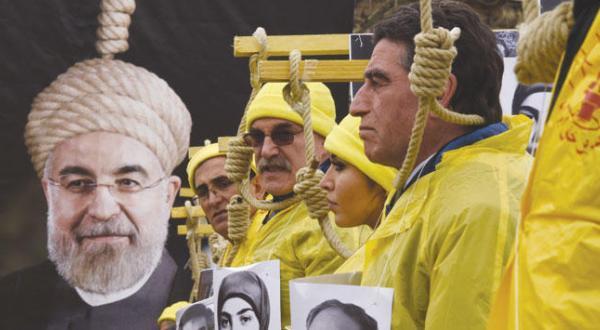 تظاهرات علیه روحانی در ۶ کشور اروپایی