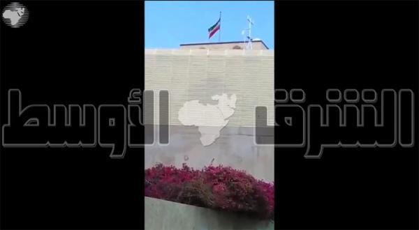 یک ویدئو اتهامات ایران مبنی بر هدف قرار گرفتن سفارتش در صنعا توسط ائتلاف را رد می کند