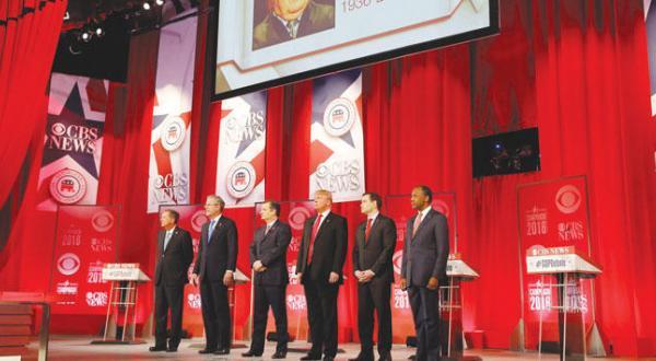 نامزدهای جمهوری خواه انتخابات مقدماتی پیش از آغاز مناظره خود در گرینویل در کارولینای جنوبی – عکس از آژانس عکس خبری اروپا