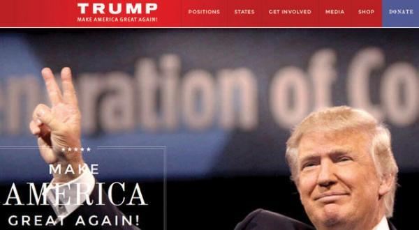 ترامپ رقیب خود بوش را شگفت زده می کند… و سایت اینترنتی او را تصرف می کند