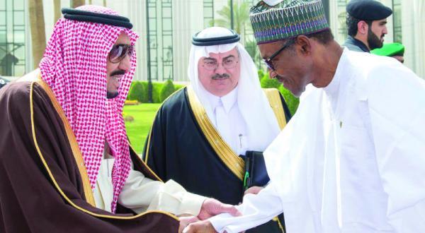 پادشاه عربستان سعودی و رئیس جمهور نیجریه در جلسه ای رسمی تحولات منطقه ای را مورد بحث قرار می دهند