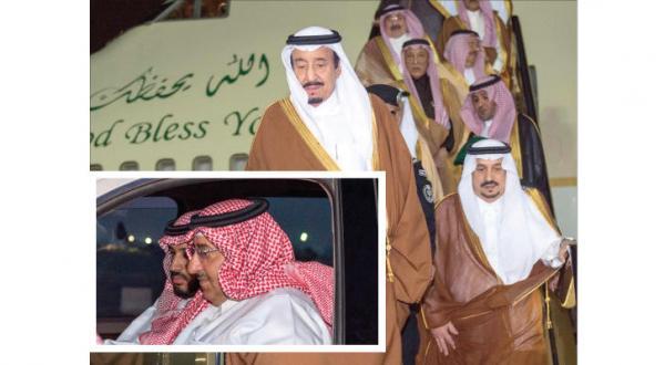 پادشاه عربستان سعودی به ریاض می رسد