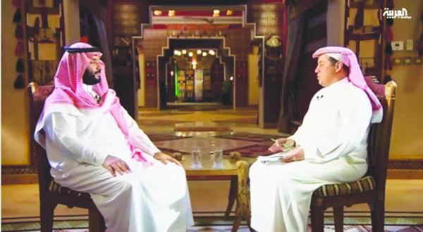 شاهزاده محمد بن سلمان با ترکی الدخیل خبرنگار و فعال رسانهای