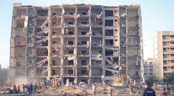 حمله تروریستی به یک مجموعه مسکونی در الخبر در ماه ژوئن 1996 – عکس از رویترز