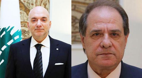 سجعان قزی وزیر کار و الان حکیم وزیر اقتصاد لبنان