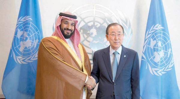 محمد بن سلمان و بان مهار «گزارش بحرانی» را بررسی کردند