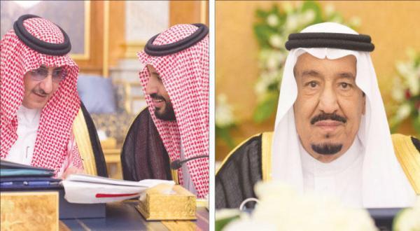 پادشاه عربستان سعودی و ولیعهد و جانشین ولیعهد در جلسه شورای وزیران در جده – عکس از خبرگزاری عربستان سعودی