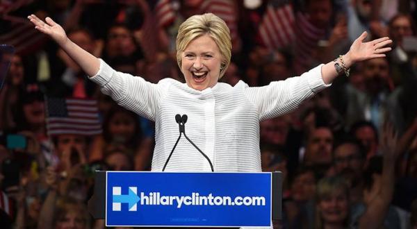 کلینتون نامزد پیروز حزب دموکرات برای انتخابات ریاست جمهوری آمریکا