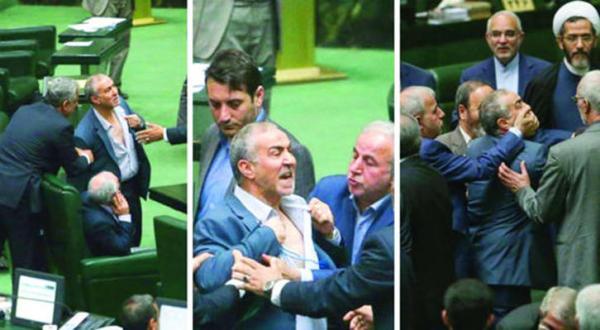 صحنه هایی از مجادلات لفظی بین نمایندگان مجلس ایران – عکس از خبرگزاری های ایران