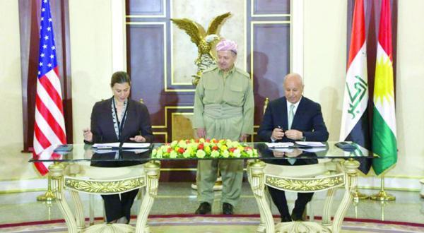 امضای تفاهمنامه نظامی بین واشنگتن وکردستان عراق