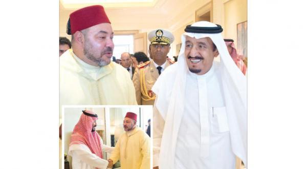 ملک سلمان در طنجه با پادشاه مراکش دیدار می کند