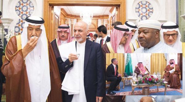 رؤسای افغانستان و گابن در ضیافت افطاری پادشاه عربستان سعودی در مکه