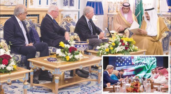 استقبال پادشاه عربستان سعودی از یک هیئت آمریکایی