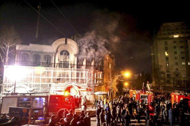 حمله به سفارت عربستان سعودی در تهران