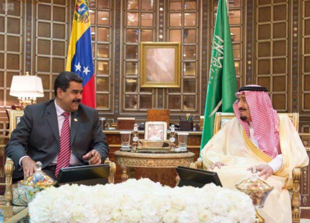 شاه سعودی با رییس جمهور ونزوِئلا دیدار کرد