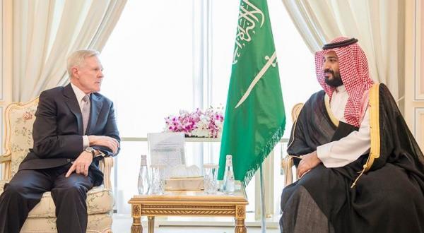 دیدار جانشین ولیعهد عربستان سعودی با دبیر کل ناوگان دریایی آمریکا