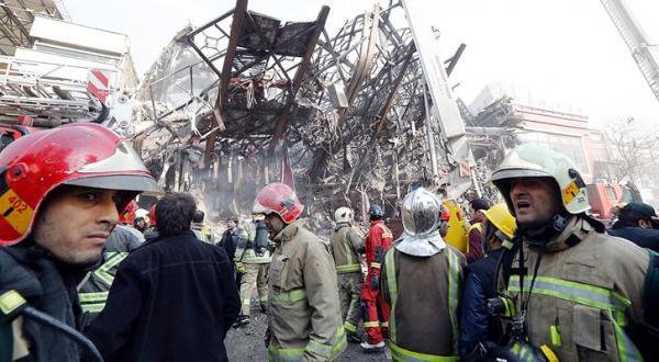 ساختمان پلاسکو در آتش سوخت و فرو ریخت