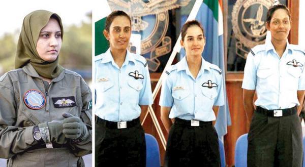 : افسران زنی که برای اولین بار هدایت جت های جنگنده را در نیروی هوایی هند به عهده می گیرند (الشرق الاوسط) عائشه فاروق اولین خلبان زن جت های جنگنده در پاکستان (الشرق الاوسط)