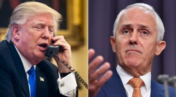ترامپ و نخست وزیر استرالیا