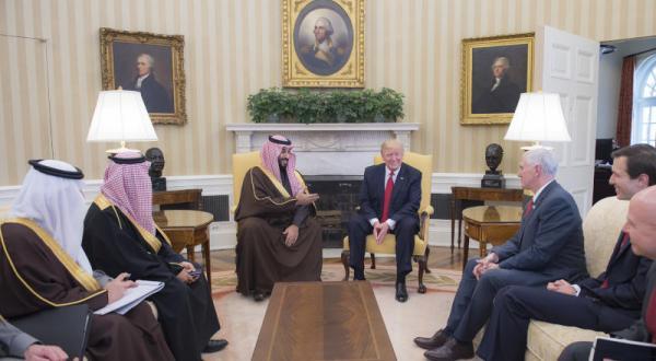 دیدار دونالد ترامپ با ولیعهد عربستان سعودی